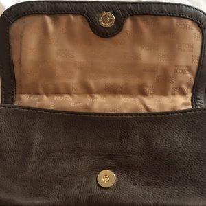 Michael Kors Bags - Michael Kors Brown pebble leather clutch